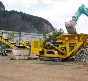 Keestrack B3 mobile track mounted Jaw Crusher